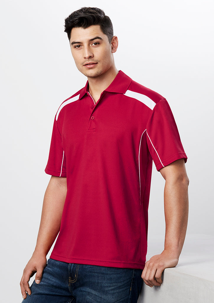 ACTIV EMBROIDERY DESIGNS. MENS UNITED SHORT SLEEVE POLO