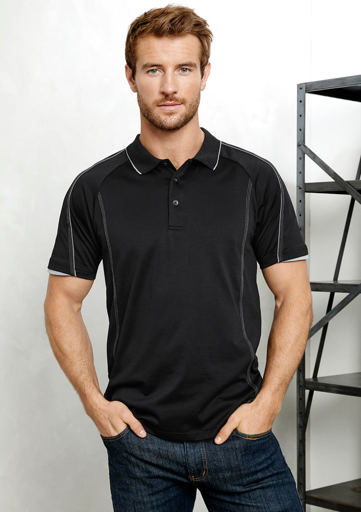 ACTIV EMBROIDERY DESIGNS.  MENS BLADE POLO