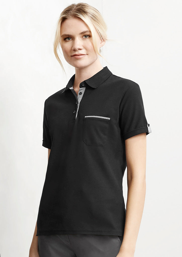 ACTIV EMBROIDERY DESIGNS. UNIFORMS, LADIES EDGE POLO