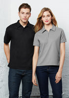 ACTIV EMBROIDERY DESIGNS.  MENS MICRO WAFFLE POLO