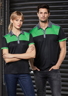 ACTIV EMBROIDERY DESIGNS. MENS CHARGER POLO
