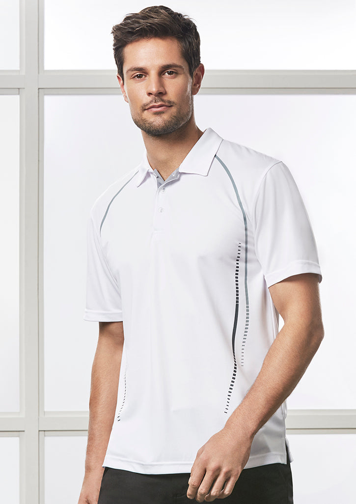 ACTIV EMBROIDERY DESIGNS. MENS CYBER POLO