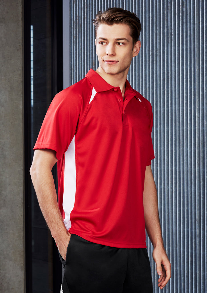 ACTIV EMBROIDERY DESIGNS. SPORTSWEAR.MENS SPLICE POLO