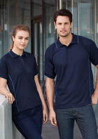 ACTIV EMBROIDERY DESIGNS. LADIES RESORT POLO