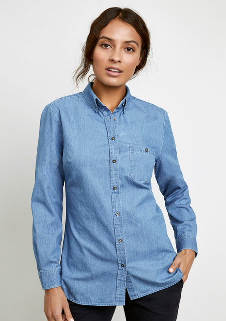 BIZ COLLECTION Indie Long Sleeve Shirt (Ladies )