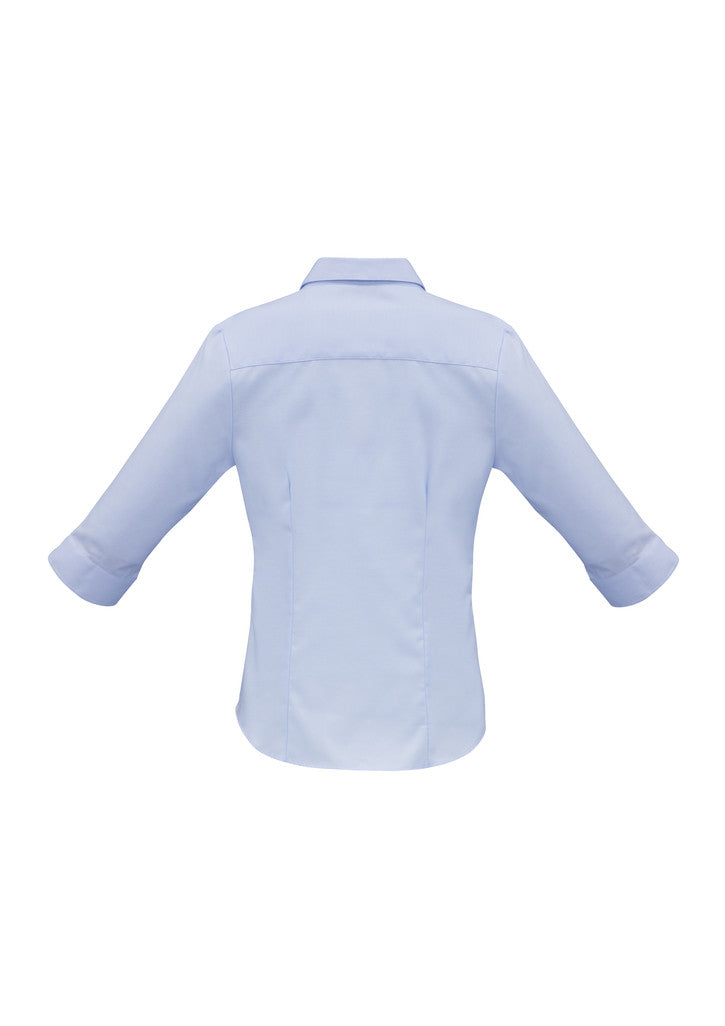 100% COTTON LADIES LUXE 3/4 SLEEVE SHIRT