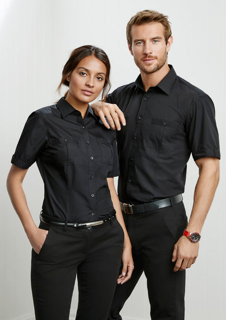 ACTIV EMBROIDERY DESIGNS. UNIFORMS.WORKWEAR. LOGOS.MENS BONDI SHORT SLEEVE SHIRT