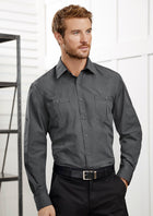 ACTIV EMBROIDERY DESIGNS.UNIFORMS.MENS BONDI LONG SLEEVE SHIRT