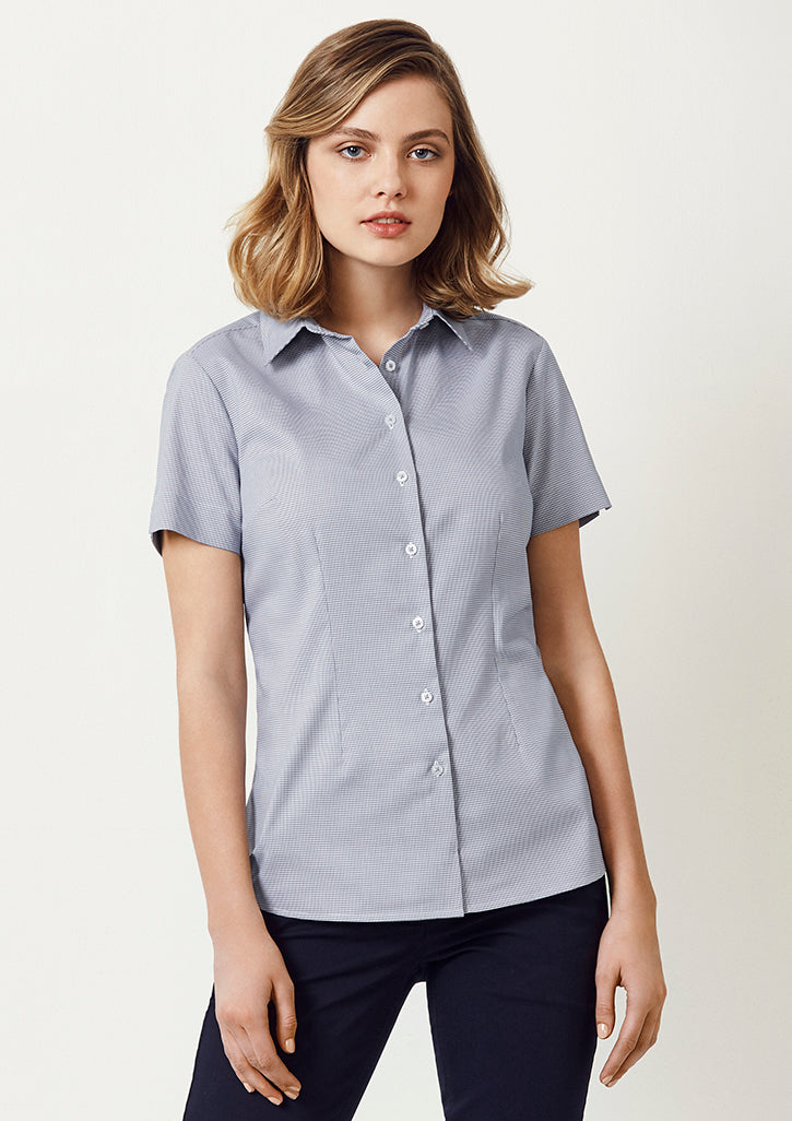 ACTIV EMBROIDERY DESIGNS. UNIFORMS. BIZ COLLECTION Jagger S/S Shirt (Ladies)
