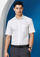 ACTIV EMBROIDERY DESIGNS. UNIFORMS, WORKWEAR, BIZ Regent S/S Shirt (Mens)