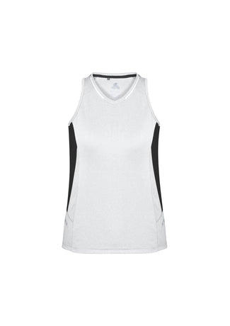 ACTIV EMBROIDERY DESIGN, UNIFORMS.BIZ COLLECTION Renegade Singlet Ladies