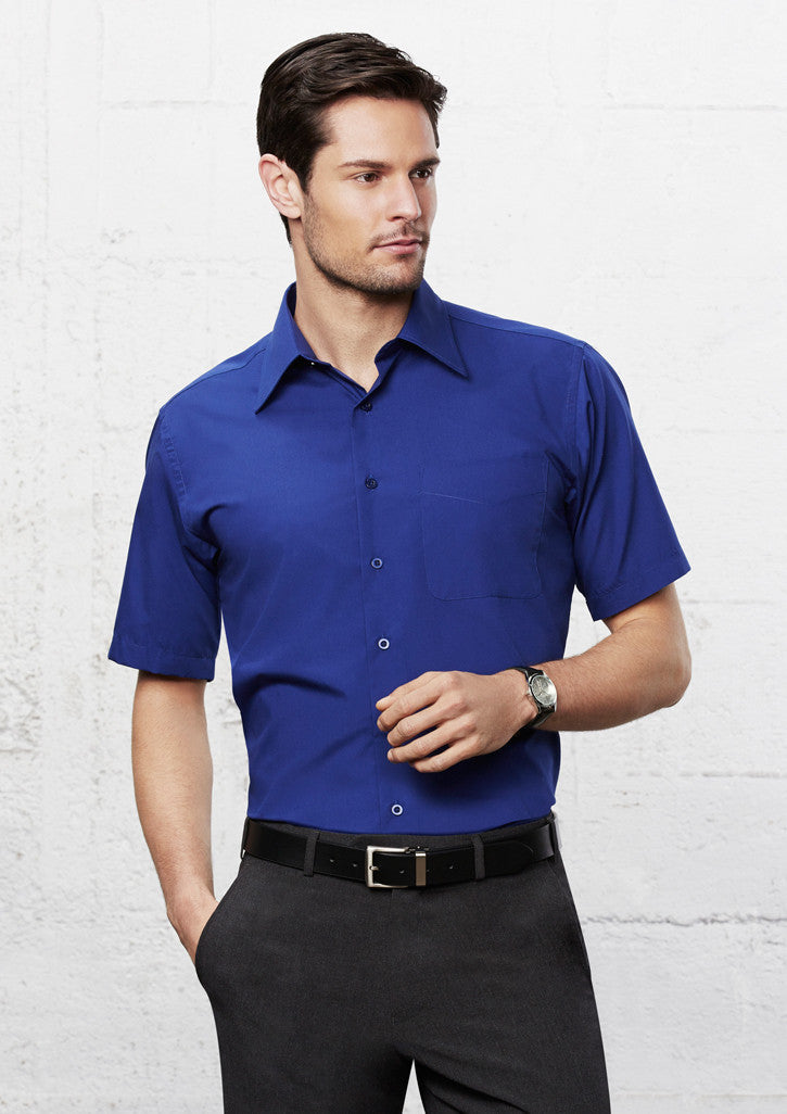 ACTIV EMBROIDERY DESIGNS.UNIFORMS.MENS METRO SHORT SLEEVE SHIRT