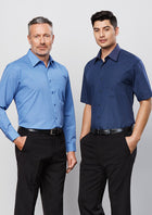 ACTIV EMBROIDERY DESIGNS.UNIFORMS.WORKWEAR.MENS MICRO CHECK SHORT SLEEVE SHIRT