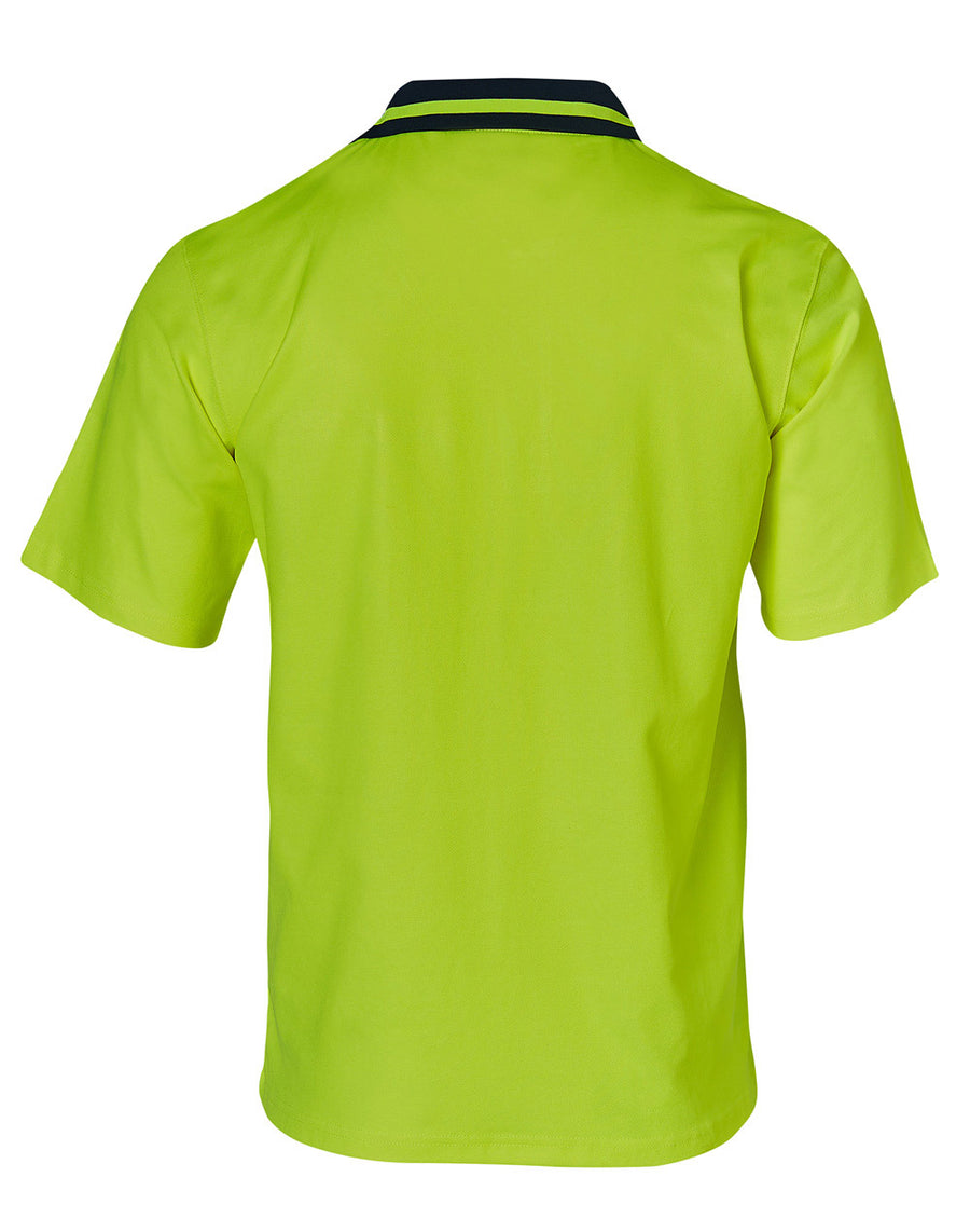Hi Vis TrueDry Cotton Back S/S Safety Polo (Mens)