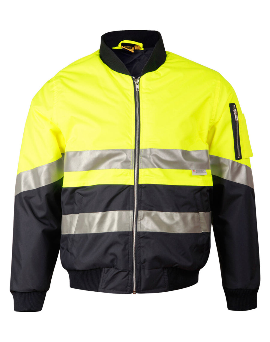 sw16A, Hi Vis Tow Tone Flying Jacket with 3M Tapes