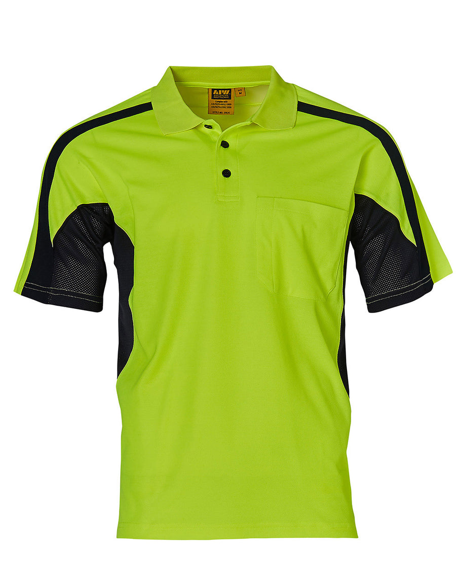 SW25,Hi-Vis TrueDry Fashion Polo With Underarms Mesh (Unisex)