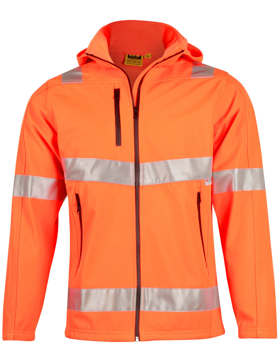 Hi-Vis Heavy Duty Softshell Jacket with 3M Tape (unisex)
