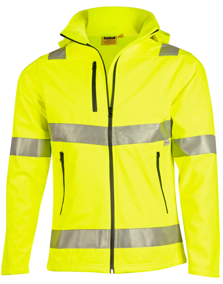 SW30,Hi-Vis Heavy Duty Softshell Jacket with 3M Tape (unisex)