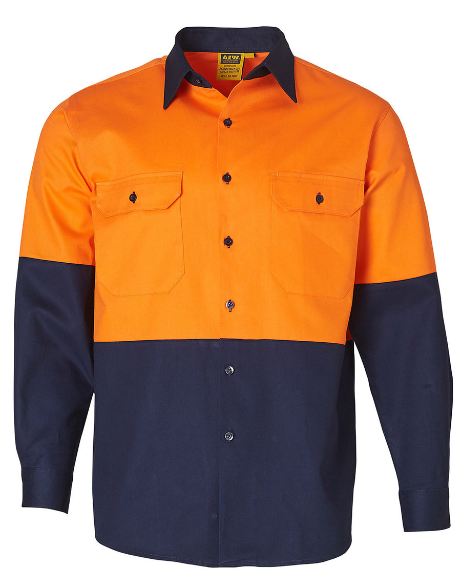 AIW High Visibility Long Sleeve Work Shirts (Mens)