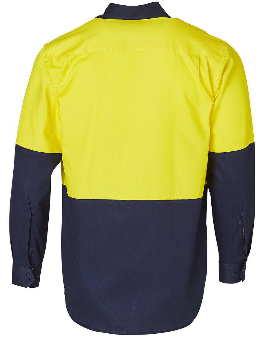 Hi Vis Long Sleeve Work Shirts (Mens)