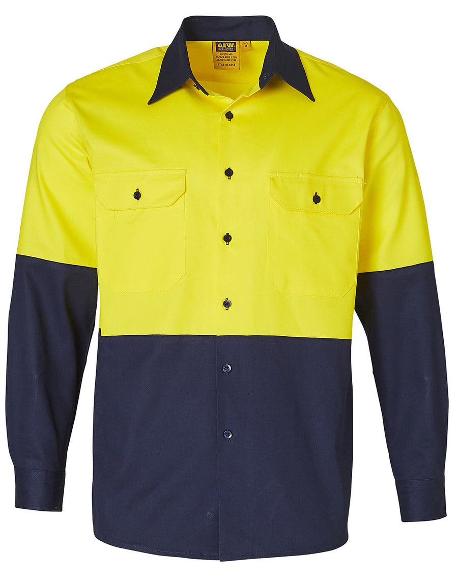 AIW SW54 High Visibility Long Sleeve Work Shirts (Mens)