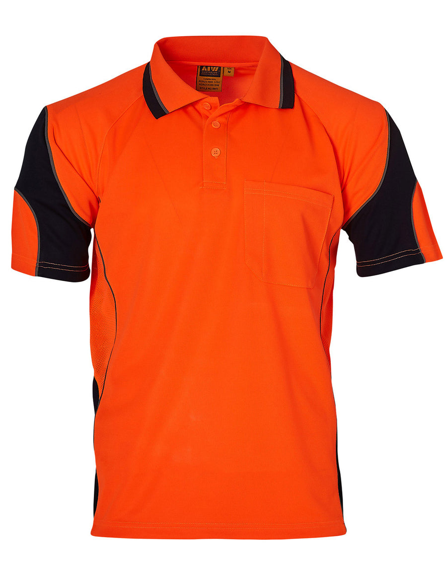 Hi-Vis Alliance CoolDry Mini Waffle Safety Polo (Unisex)