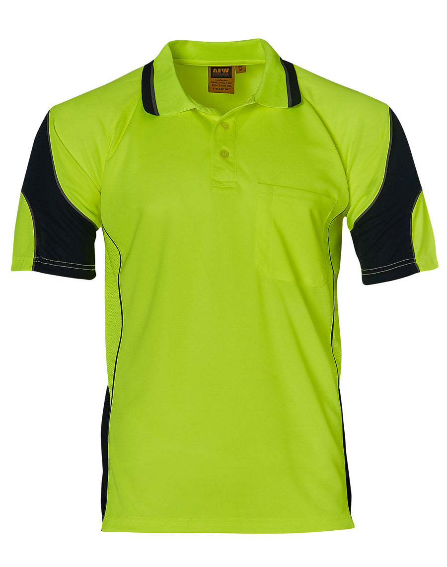 sw71,Hi-Vis Alliance CoolDry Mini Waffle Safety Polo (Unisex)