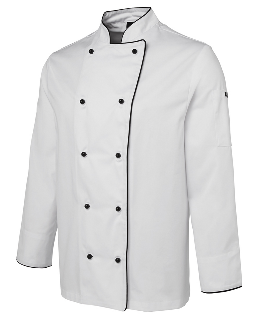 ACTIV EMBROIDERY DESIGNS. UNIFORMS. LONG SLEEVE CHEF'S JACKET. UNISEX.