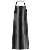 ACTIV EMBROIDERY DESIGNS. UNIFORMS. BIB STRIPED APRON WITH POCKET.