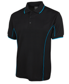 ACTIV EMBROIDERY DESIGNS. UNIFORMS. SHORT SLEEVE PIPING POLO. MENS.