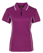 ACTIV EMBROIDERY DESIGNS. UNIFORMS. SHORT SLEEVE PIPING POLO. LADIES.