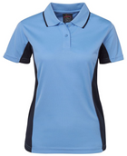ACTIV EMBROIDERY DESIGNS. UNIFORMS. jb CONTRAST POLO. LADIES.