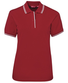 ACTIV EMBROIDERY DESIGNS. UNIFORMS. CONTRAST POLO. LADIES.