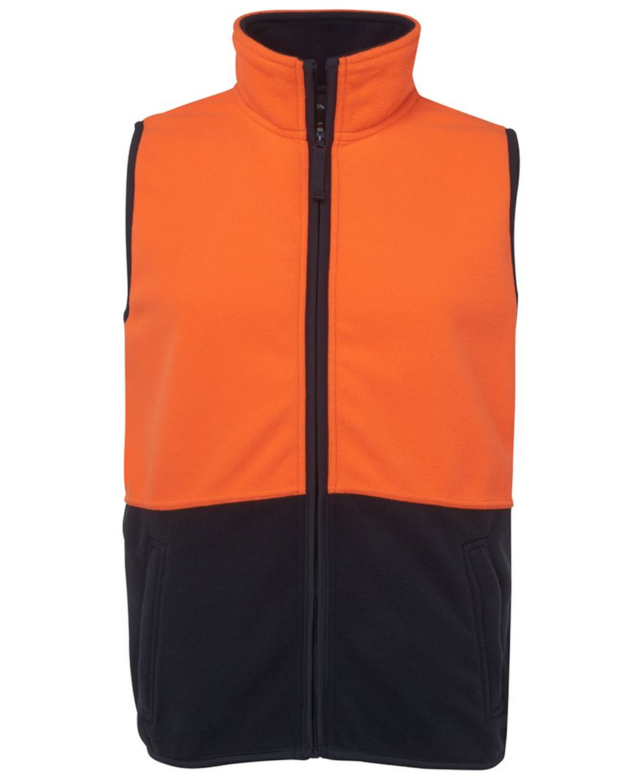 ACTIV EMBROIDERY DESIGNS. UNIFORMS. HI VIS POLAR VEST.