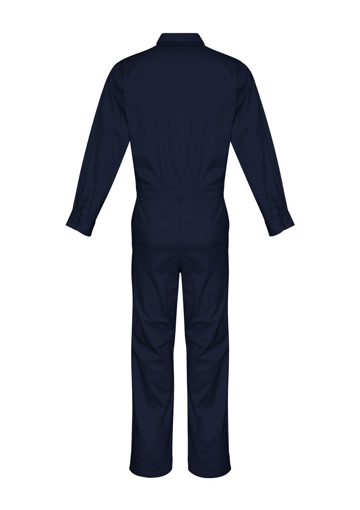 ACTIV EMBROIDERY DESIGNS. UNIFORMS. LIGHTWEIGHT COTTON DRILL OVERALL. MENS.