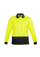Unisex Hi Vis Basic Spliced Polo - Long Sleeve
