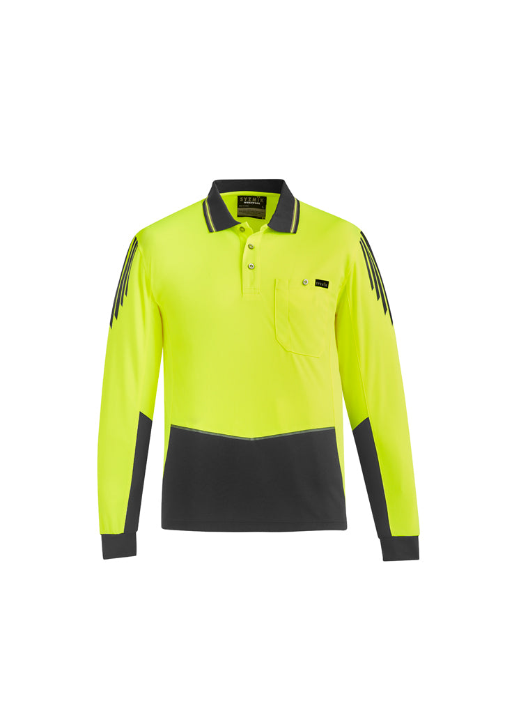 Hi Vis Flux L/S Polo (Mens)