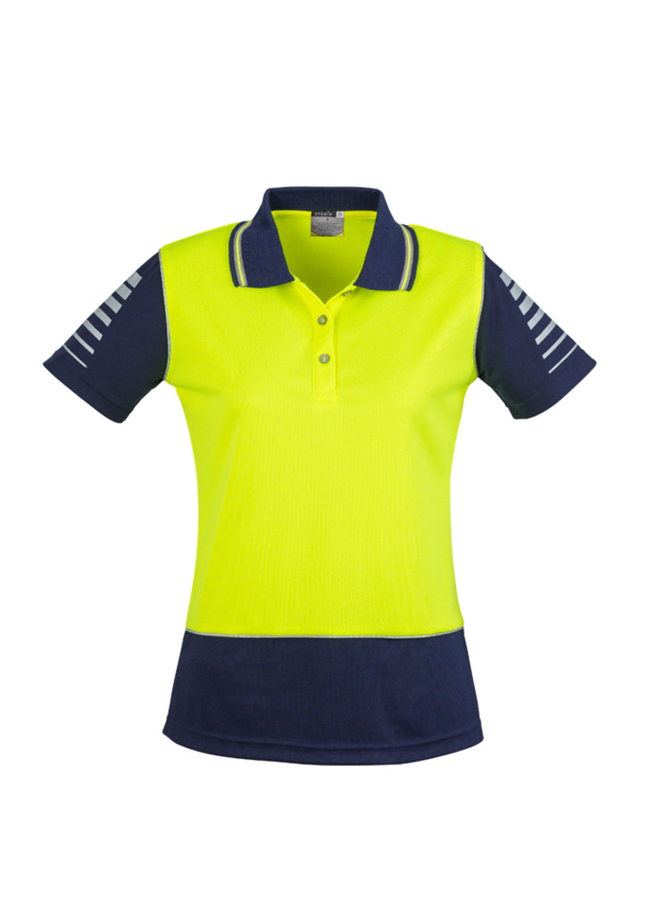 ACTIV EMBROIDERY DESIGNS, SYZMIK WORKWEAR, Hi Vis Zone Polo (Womens)