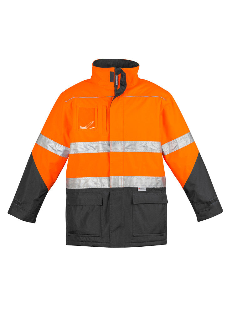 ACTIV EMBROIDERY DESIGNS. UNIFORMS. HI VIS STORM JACKET. MENS.