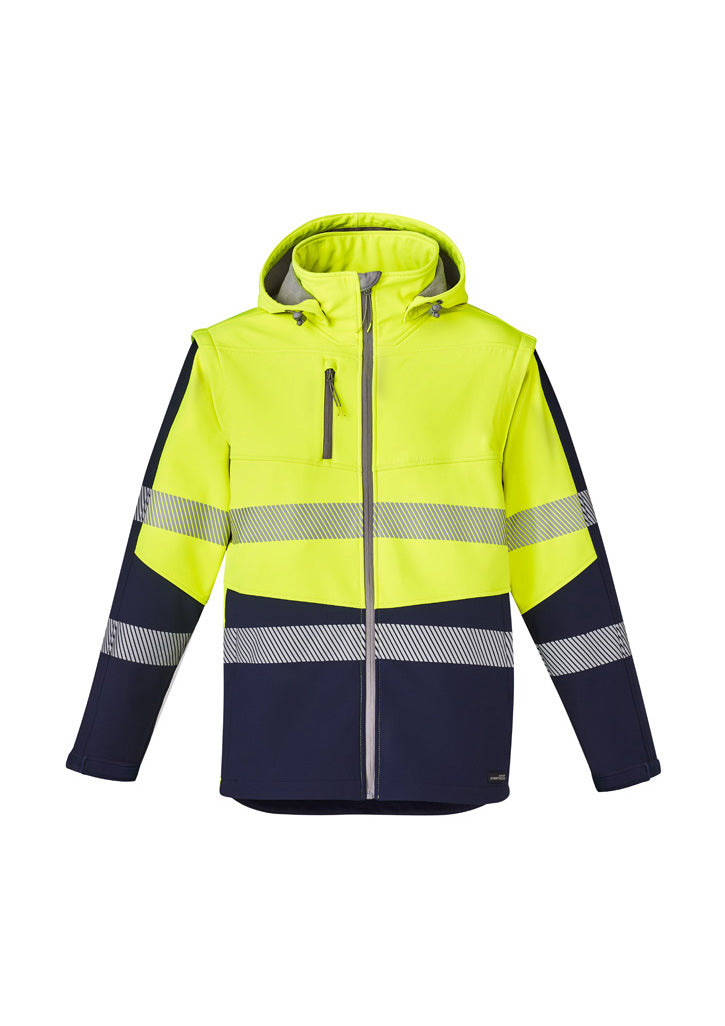 Unisex 2 in 1 Stretch Softshell Taped Jacket