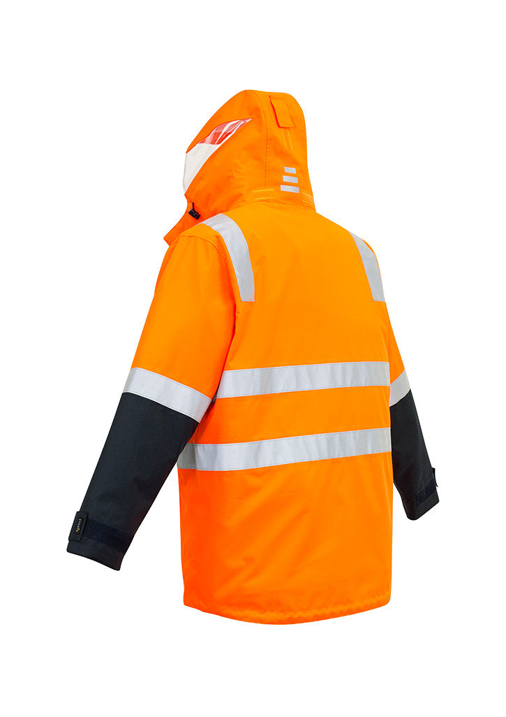 ACTIV EMBROIDERY DESIGNS. UNIFORMS. HI VIS 4 IN 1 WATERPROOF JACKET. MENS.