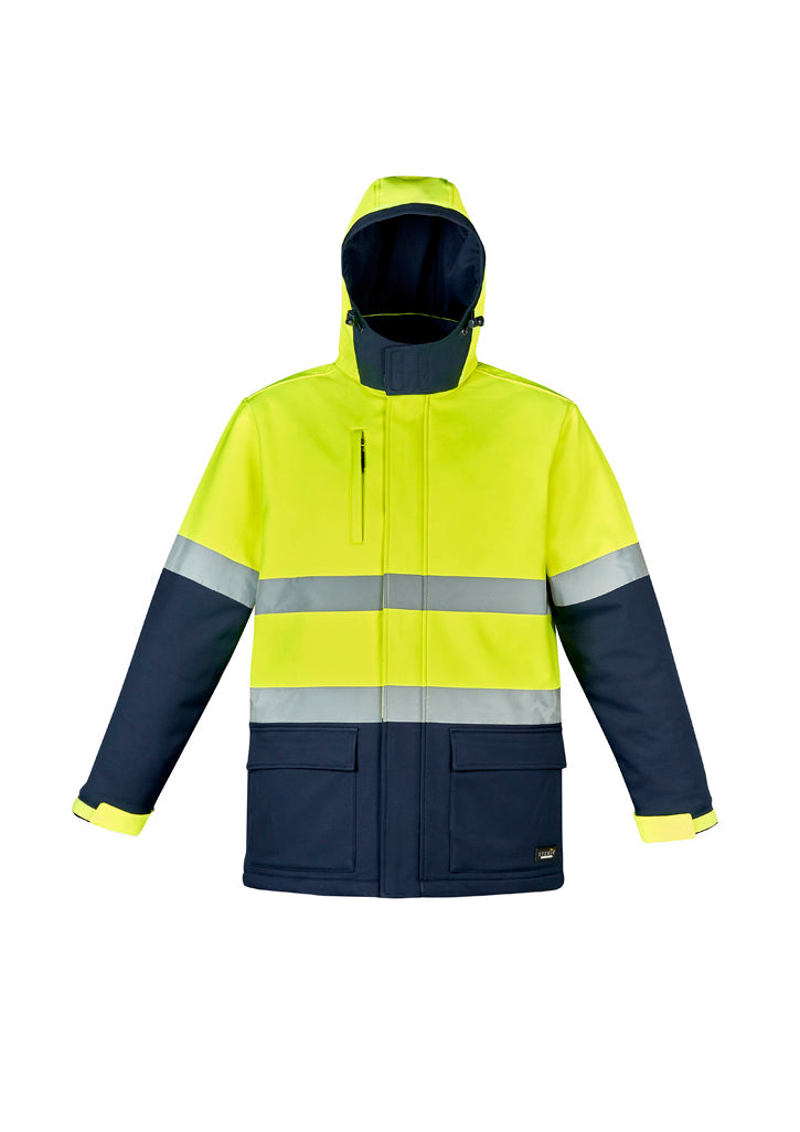 ZJ553 SYZMIK Unisex Hi Vis Antarctic Softshell Taped Jacket