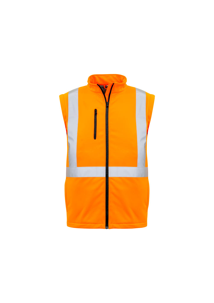 Hi Vis 2 in 1 X Back Soft Shell Jacket (Unisex)