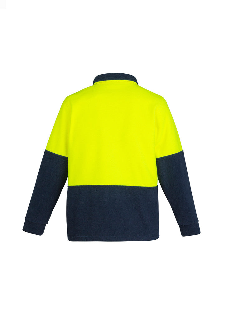ACTIV EMBROIDERY DESIGNS. UNIFORMS. HI VIS HALF ZIP FLEECE JUMPER. UNISEX.