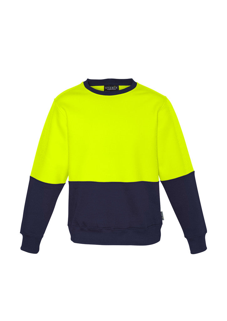 ACTIV EMBROIDERY DESIGNS. UNIFORMS. HI VIS CREW SWEATSHIRT. UNISEX.