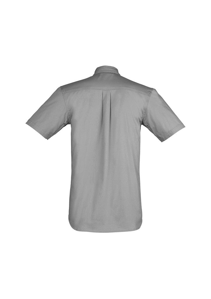 ACTIV EMBROIDERY DESIGNS. UNIFORMS. LIGHT WEIGHT TRADIE SHIRT SHORT SLEEVE. MENS.