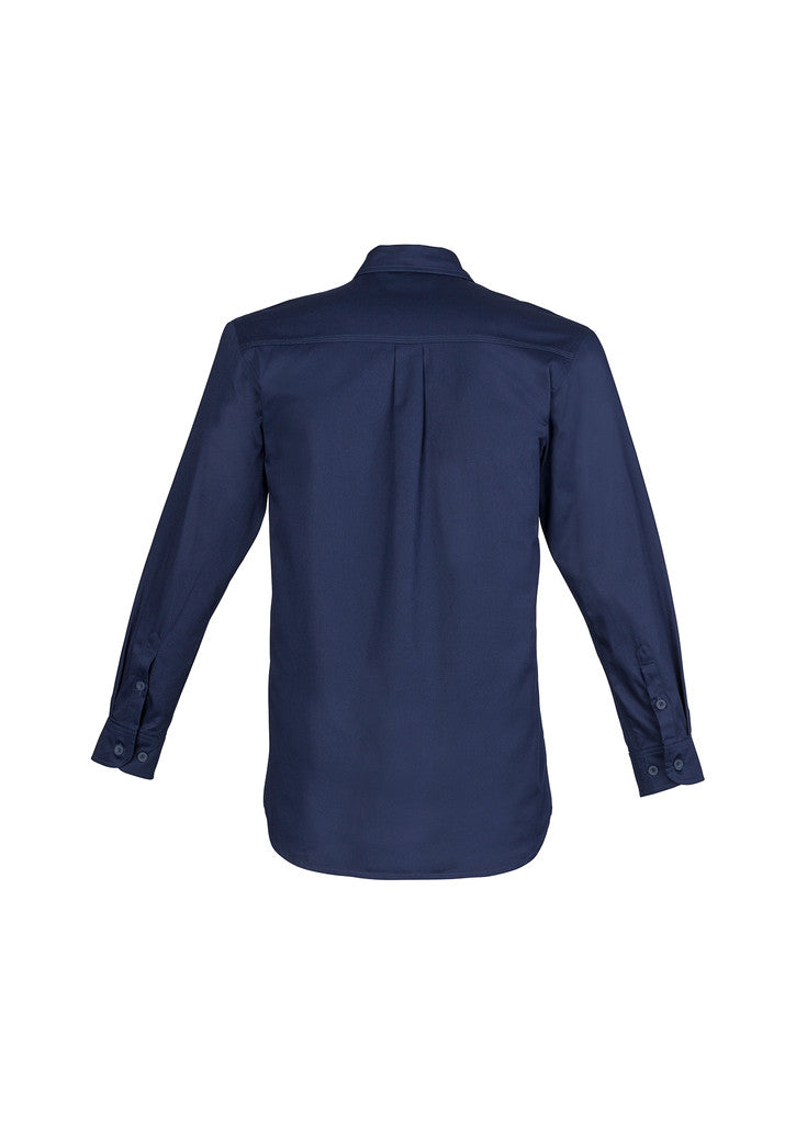 ACTIV EMBROIDERY DESIGNS. UNIFORMS. LIGHTWEIGHT TRADIE SHIRT LONG SLEEVE. MENS.
