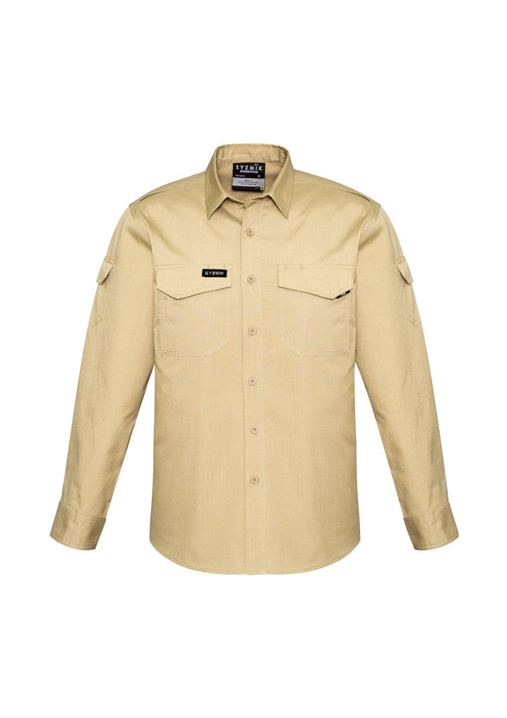 ACTIV EMBROIDERY DESIGNS. UNIFORMS. RUGGED COOLING LONG SLEEVE SHIRT. MENS.