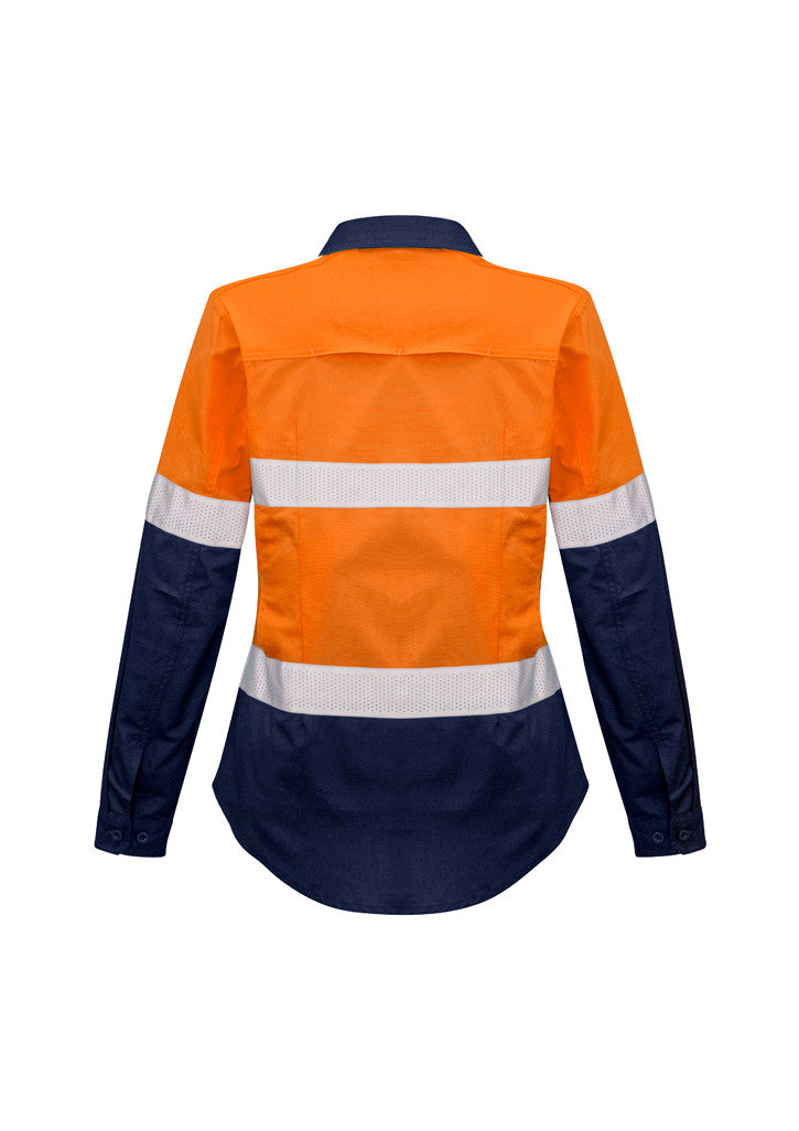 ACTIV EMBROIDERY DESIGNS. UNIFORMS. RUGGED COOLING TAPED HI VIS SPLICED SHIRT. LADIES.