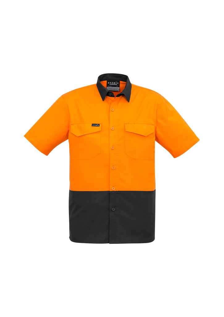ACTIV EMBROIDERY DESIGNS. UNIFORMS. RUGGED COOLING HI VIS SPLICED SHORT SLEEVE MENS.